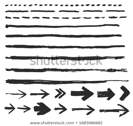 Ink brush strokes, Set of paint arrow spots. . hand made design. vector Stock photo © Andrei_