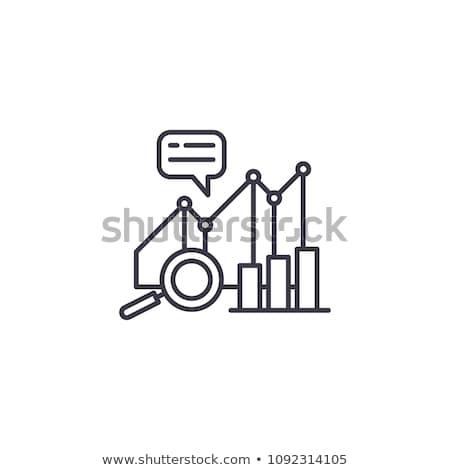 Traçar crescimento ícone vetor ilustração Foto stock © pikepicture
