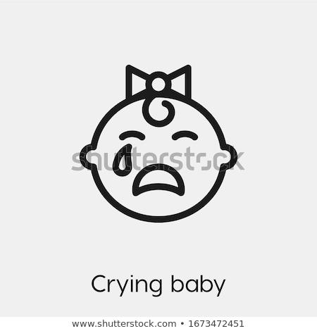Emberi könnyek ikon vektor skicc illusztráció Stock fotó © pikepicture