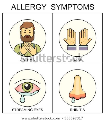 Allergia kezek orr izolált ikon allergiás Stock fotó © robuart