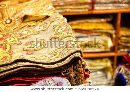 Colorful rugs at the market in Dubai Stock photo © hitdelight