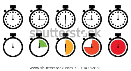 Stockfoto: Round Stopwatch Timer Hour Countdown