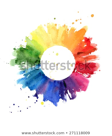 graphic design watercolor palette color brush Stock photo © yupiramos