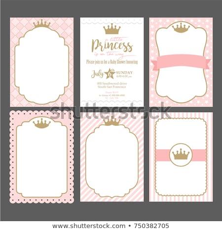 Papír sablon herceg hercegnő illusztráció fa Stock fotó © bluering
