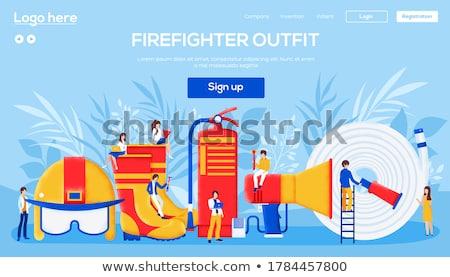 Fire protection concept banner header. Stock photo © RAStudio