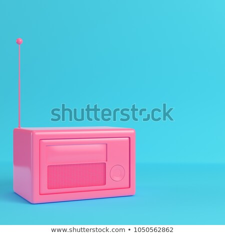 Background with colorful vintage radios Stock photo © shawlinmohd