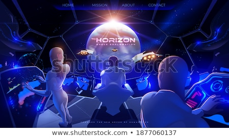 Aterrissagem página avançado futurista inteligência artificial Foto stock © RAStudio