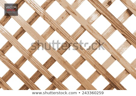 Parallel wood lattice Stock photo © bobkeenan