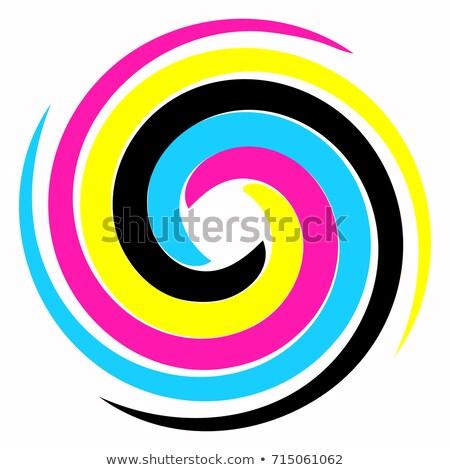 Swirl четыре Стрелки цветами компьютер аннотация Сток-фото © timbrk