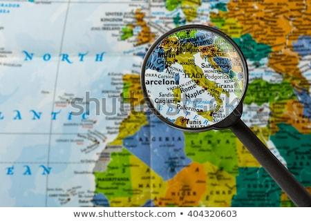 Nagyító Olaszország vidék térkép fehér szemüveg Stock fotó © kbuntu