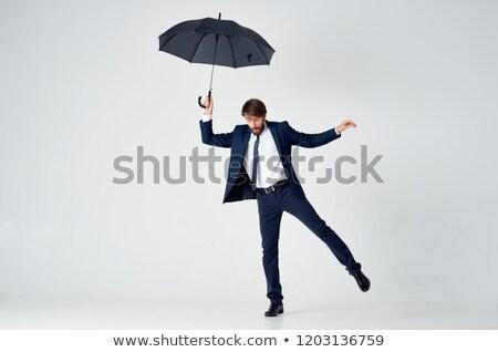 boldog · üzletember · egy · láb · férfi · haj - stock fotó © Paha_L