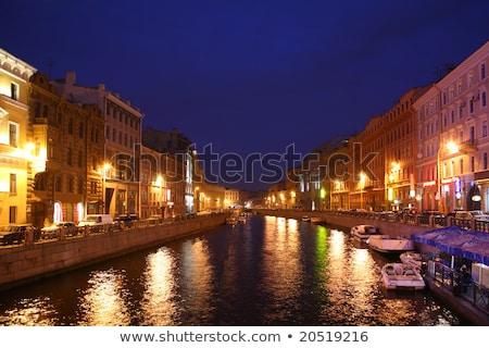 Canal anochecer agua edificio paisaje luz Foto stock © Paha_L