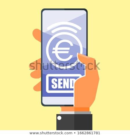 euro symbol on handheld Stock photo © gewoldi