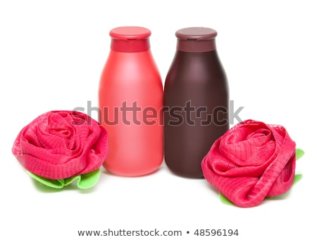 Due shampoo spugna forma rosa bianco Foto d'archivio © RuslanOmega