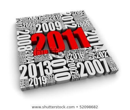 gelukkig · nieuwjaar · illustratie · nieuwe · jaren · bericht · vector - stockfoto © orson
