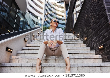 glimlachend · portret · geslaagd · business - stockfoto © stryjek