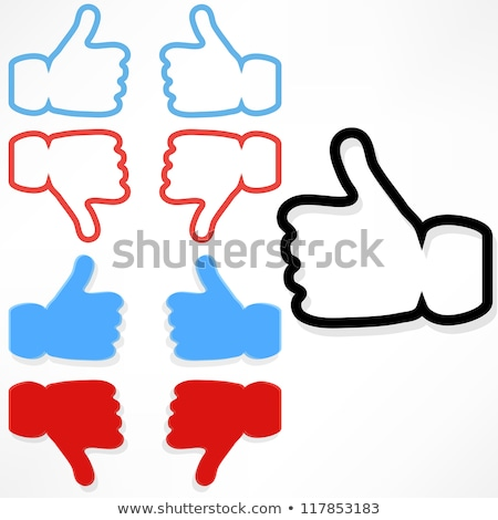 Hand select 'Like' word on network Stock photo © Archipoch