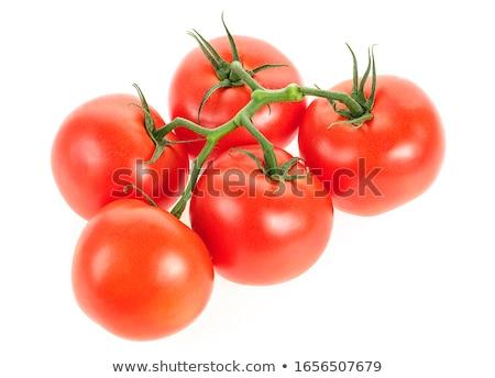 Photo stock: Tomates · fraîches · isolé · blanche · légumes