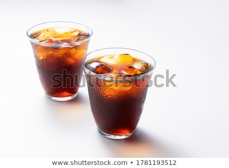 Coffee beans in a glass on white background  Stock photo © happydancing