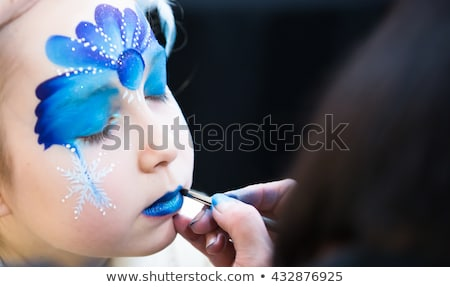 girl with butterfly bodyart Stock photo © zastavkin