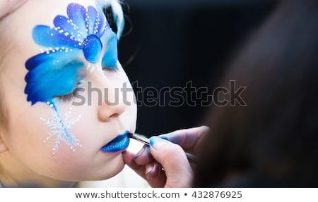 girl with butterfly bodyart Stock photo © zastavkin