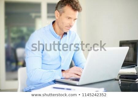 işadamı · asistan · bakıyor · bilgisayar · iş · kadın - stok fotoğraf © photography33