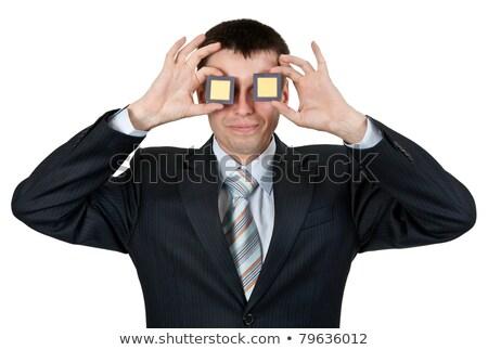 Businessman turned a blind eye two processors Stock photo © RuslanOmega
