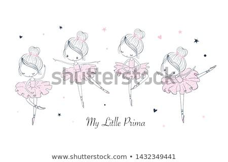 Kinderachtig ballerina jonge mooie houding groot Stockfoto © blanaru