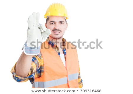 handsome smiling architect making okay sign Stock photo © photography33