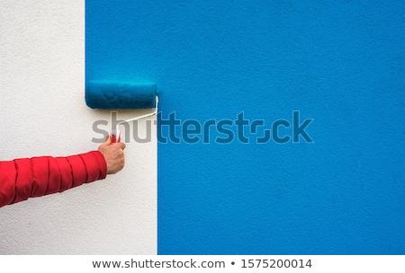 kobieta · farby · ściany · pracy · domu - zdjęcia stock © photography33