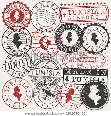 почты Тунис изображение штампа карта флаг Сток-фото © perysty