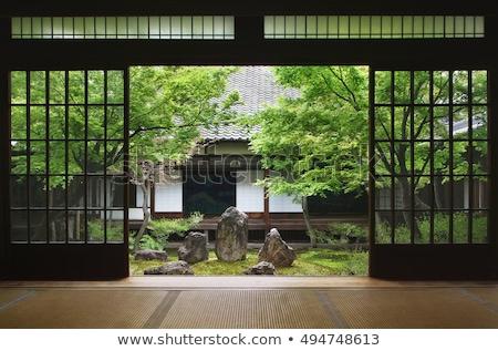 Japonês tradicional jardim quioto Japão Foto stock © travelphotography