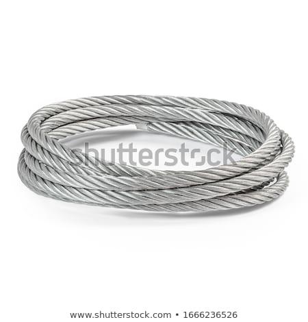 acier · câble · bobine · peu · profond - photo stock © cboswell