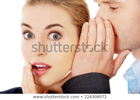 Man whispering a secret to his partner Stock photo © photography33