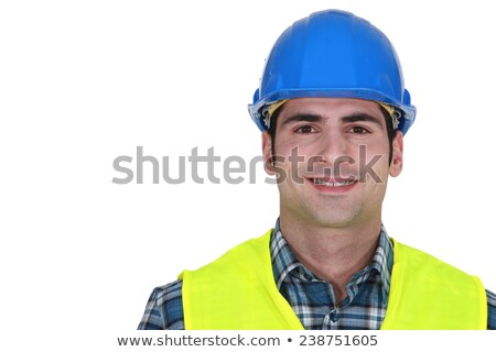 Constructeur fluorescent veste homme bleu Photo stock © photography33