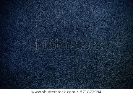 Blu pelle texture primo piano dettagliato moda Foto d'archivio © homydesign