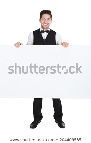 Waiter with a blank board Stock photo © photography33