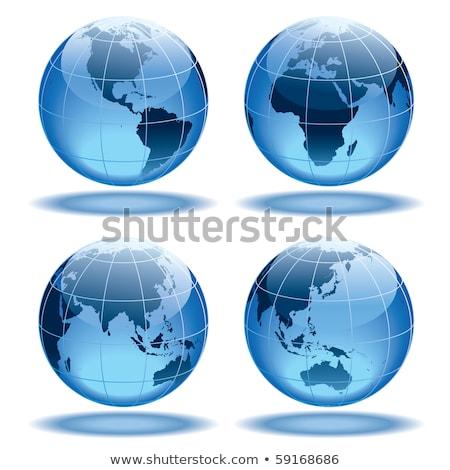 Cam dünya mavi aydınlatma ışık Stok fotoğraf © cobaltstock