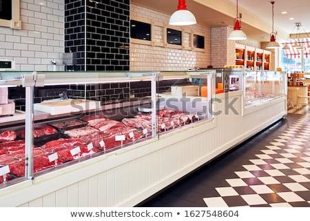marhahús · kockák · vásár · áruház · kirakat · bent - stock fotó © mtkang