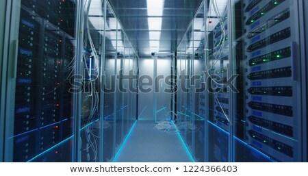 пусто зале серверы центр обработки данных компьютер технологий Сток-фото © wavebreak_media