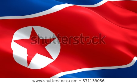 Fabric texture of the flag of North Korea Stock photo © maxmitzu