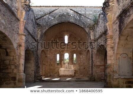 Interior church in Oradour sur Glane Stock photo © ivonnewierink