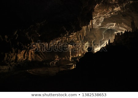 barlang · sötét · belső · földalatti · tó · fény - stock fotó © dinozzaver