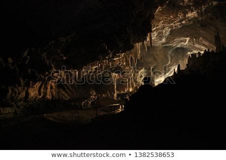 cueva · oscuro · interior · subterráneo · lago · luz - foto stock © dinozzaver