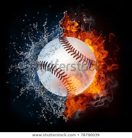 Béisbol pelota fuego llamas agua Foto stock © Kesu