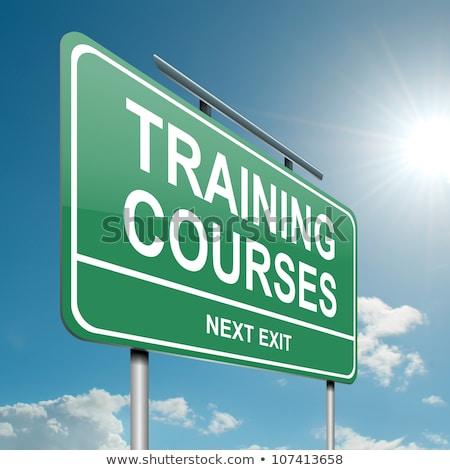 Education Concept. Course Roadsign. stock photo © tashatuvango