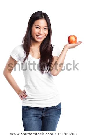 Cute яблоко портрет довольно Сток-фото © williv