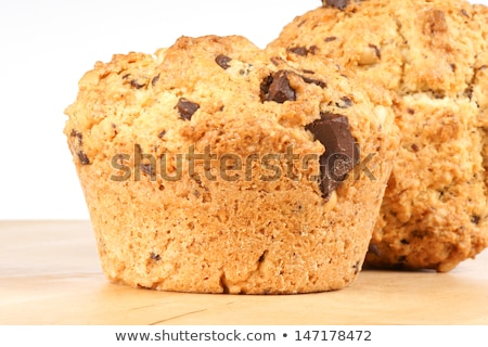 Two chocolate chips and pine nuts muffins Stock photo © aladin66