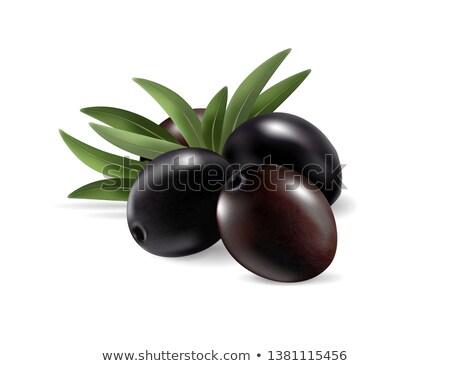 Yeşil kahverengi siyah zeytin meyve gıda siyah Stok fotoğraf © goce
