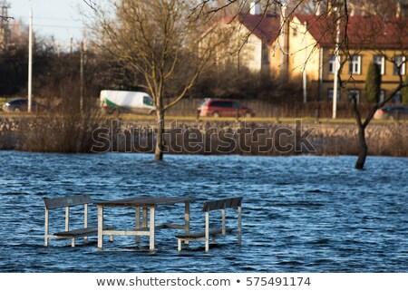 Koltuk bank nehir sel su doku Stok fotoğraf © ryhor